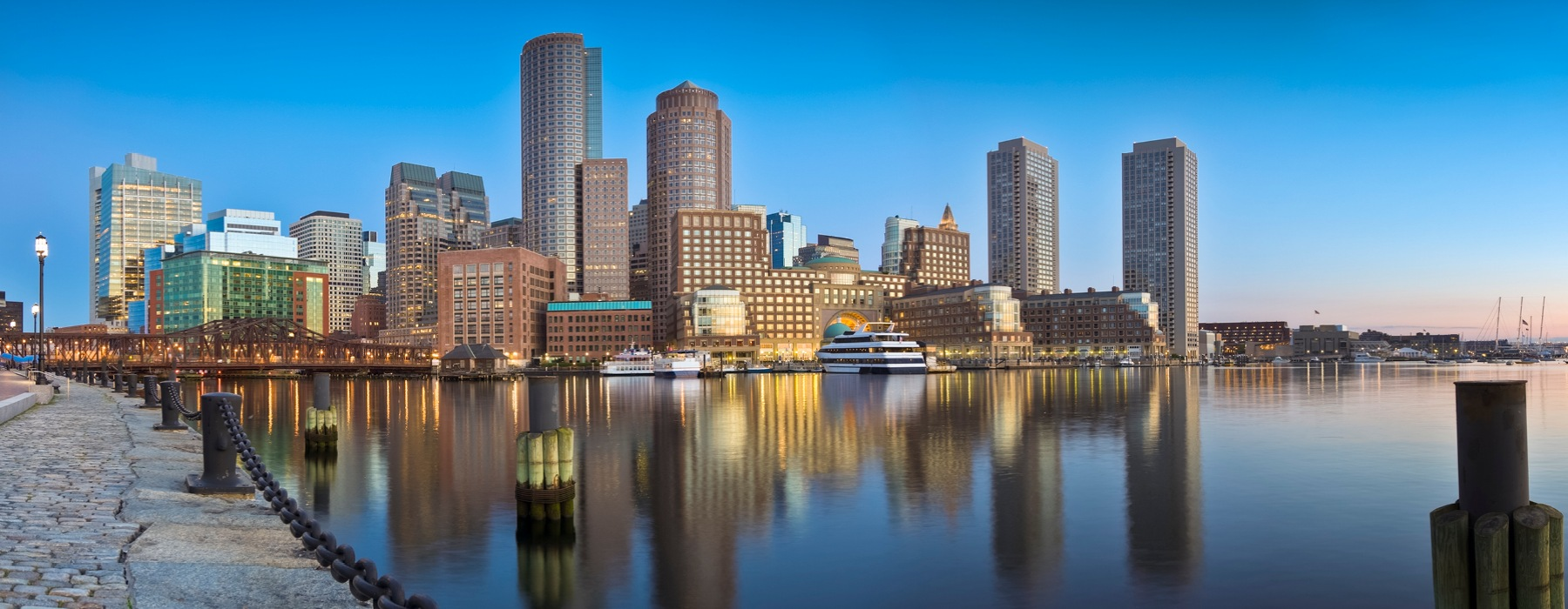 Image Of Boston Skyline From The Harbor